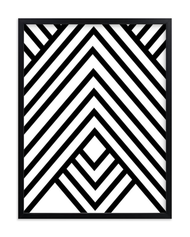 Abstract simple geometric design Wall Art Prints by Anna Minted