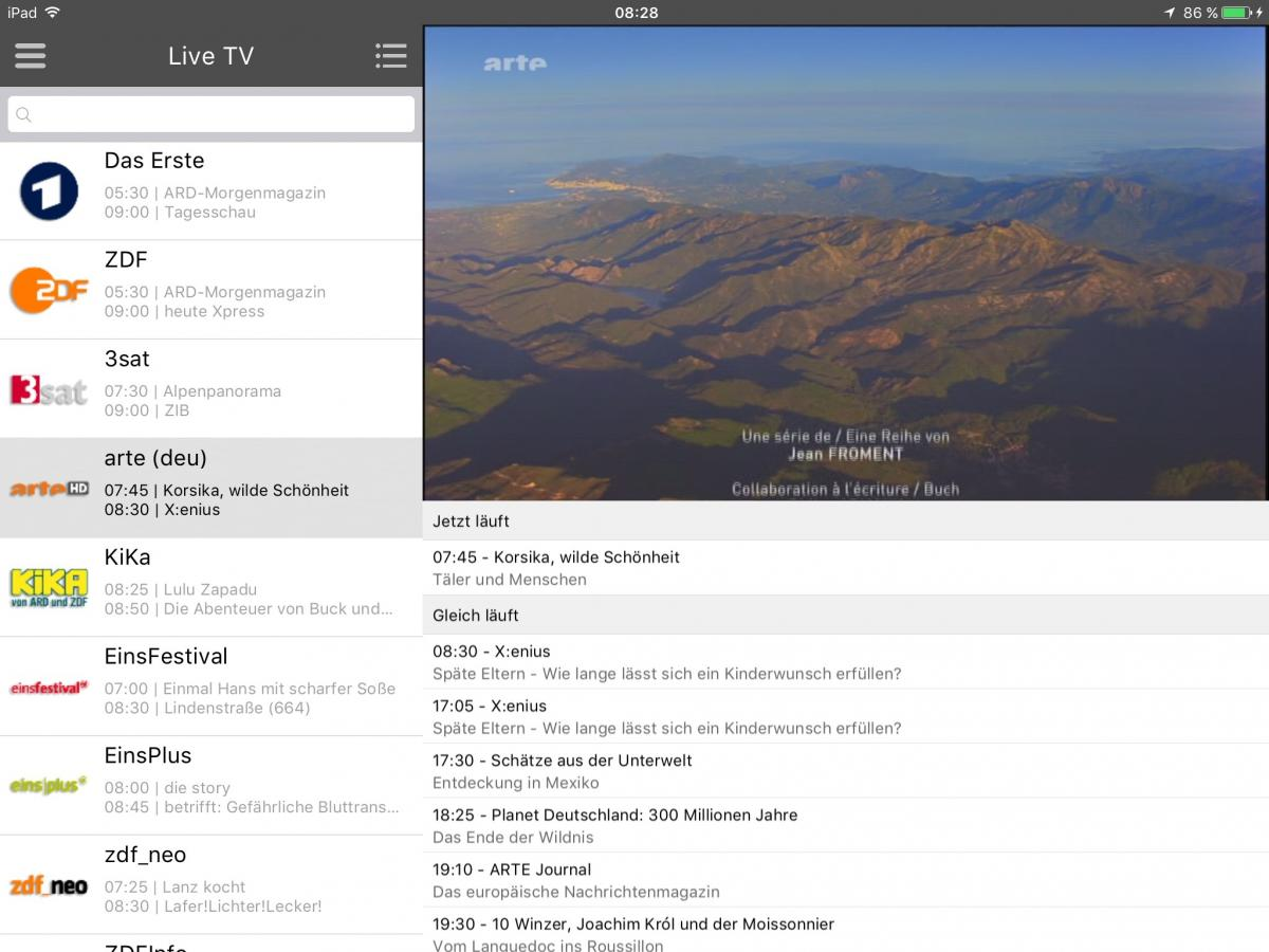 Arte Journal Programm Sat Ip Viewer For Ios Android Mobile Tablet Tv Sat Ip Viewer