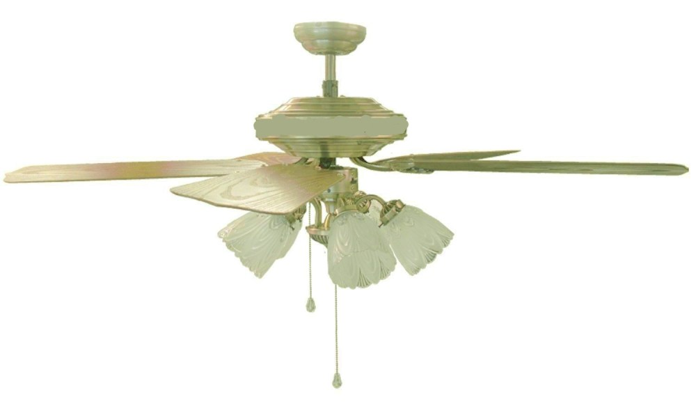 Tulip Ceiling Fan Sakura 52 Quot 220 Volt Brass Ceiling Fan With Four Lights