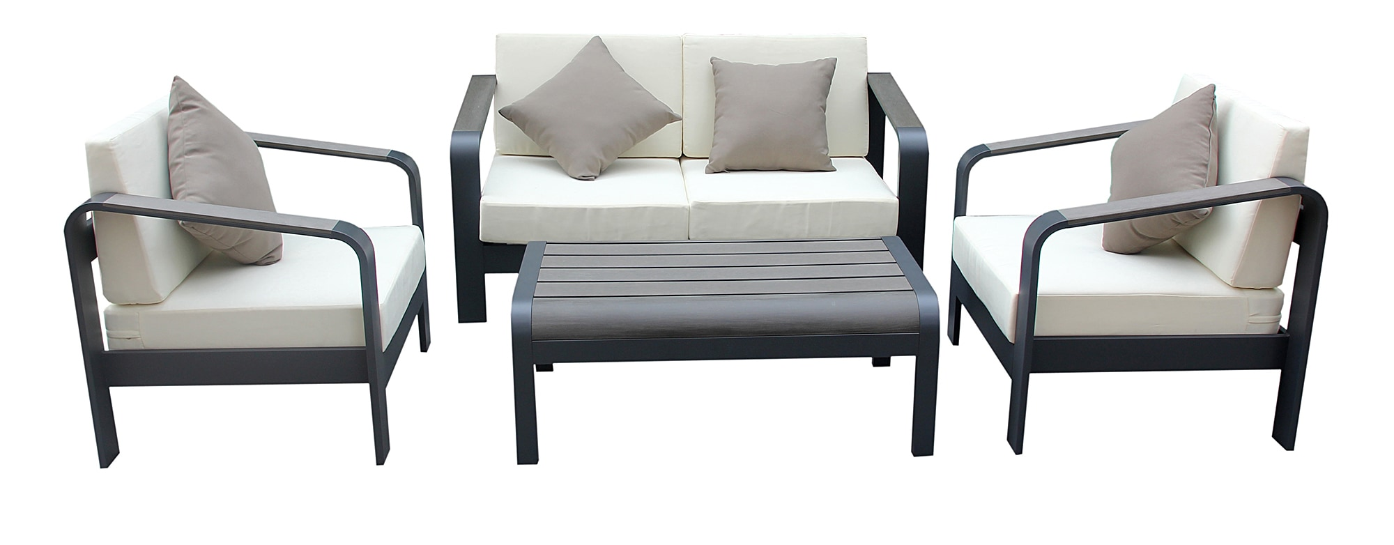 Sofa Set In Metal Kontiki Conversation Sets Metal Sofa Sets Leeno 4 Piece