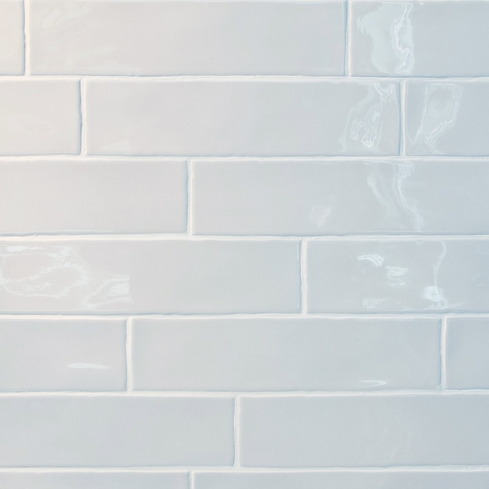GL Stone & Tile Rippled Edge Porcelain Subway Tiles White