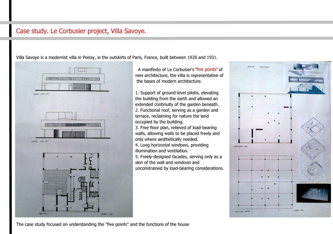 Case Study Villa Savoye Alex Vladoius Portfolio