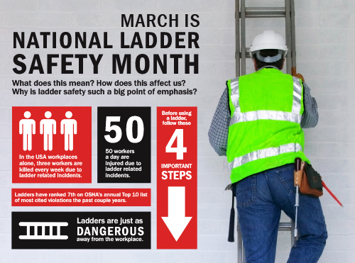 March Is National Ladder Safety Month Delaware Valley