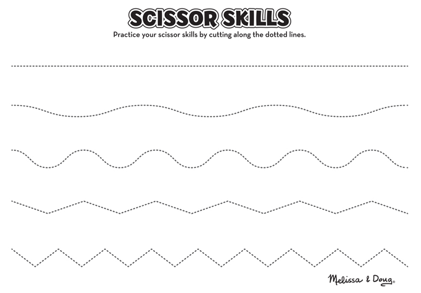 Scissor Skills Activities for Kids - 2 Printables Melissa  Doug Blog