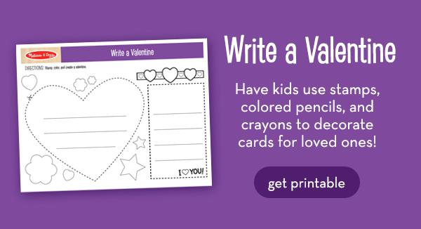 4 FREE Printables for Valentine\u0027s Day Crafts! Melissa  Doug Blog