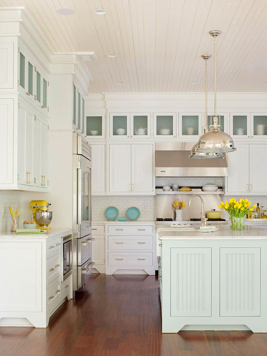 Kitchen Island Distance From Cabinets 25 Best Beach Style Kitchen Design Ideas