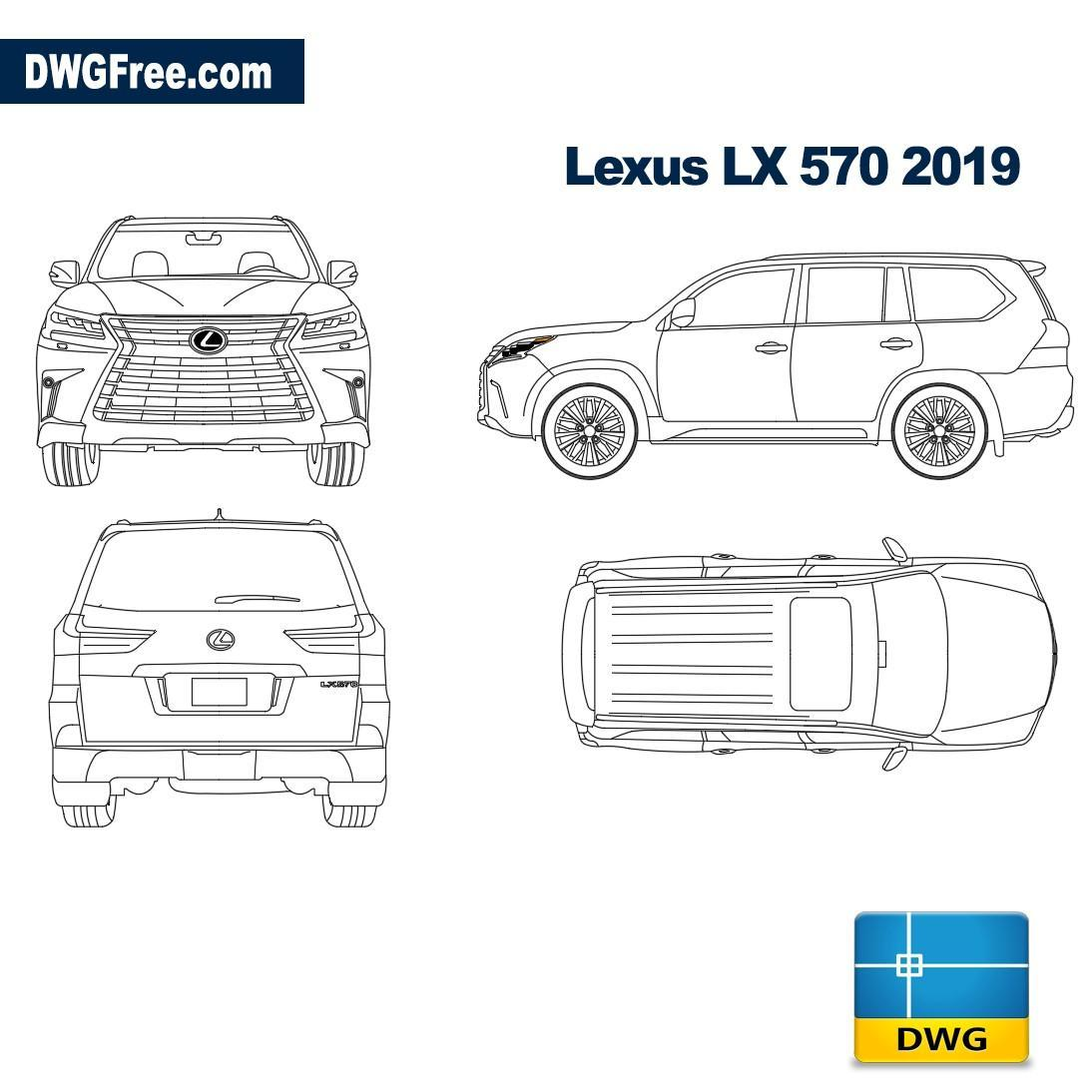 Autocad Blocks Lexus Lx570 2019