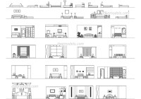 Bedroom front view DWG, free CAD Blocks download