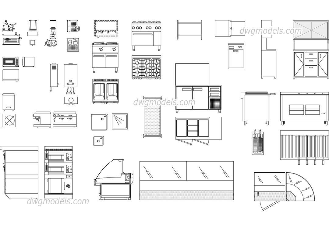Bar Supplies And Equipment Dwg Free Cad Blocks Download