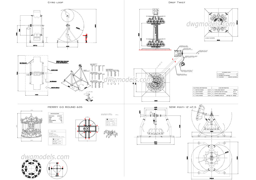 2??cad??? Attractions 2 Autocad Drawings