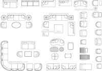Living Room Furniture AutoCAD blocks, DWG blocks, CAD ...