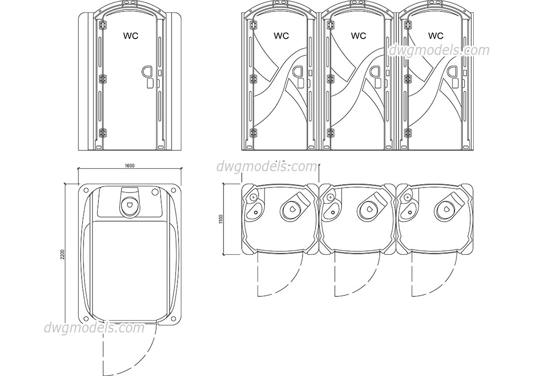 Wc Plan Portable Toilet Dwg Free Autocad File Download Cad Blocks