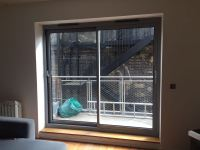 Thin frame aluminium patio doors installation London - DWL
