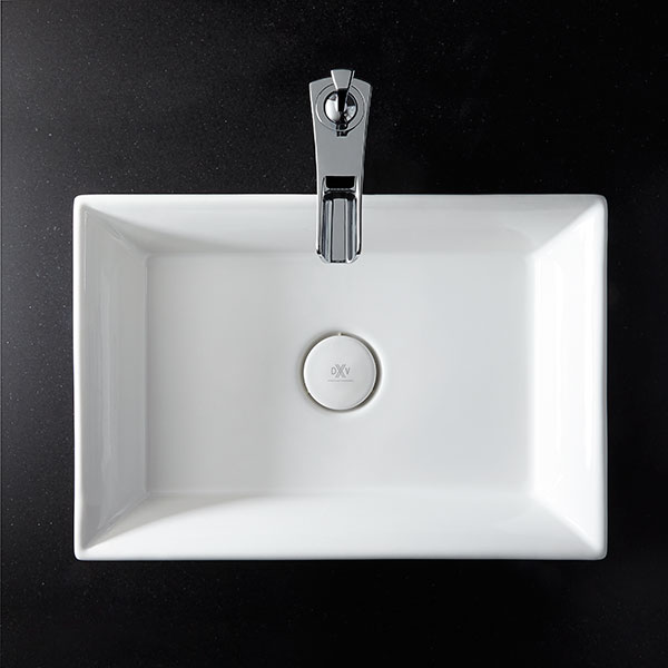 Vessel bathroom sink pop rectangle vessel lavatory from dxv