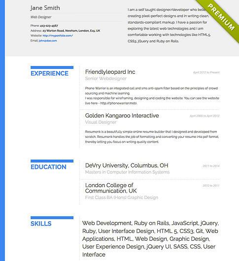 online resume maker usa