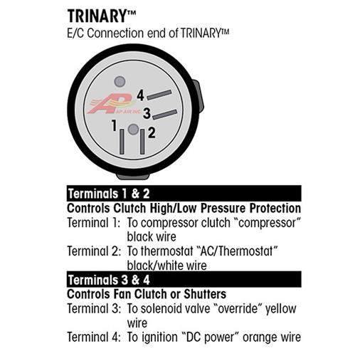 AP Air Inc - Trinary Switch Normally Open, Female Thread, 7/16\