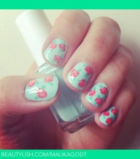 Cute vintage rose nails | Malika J.'s (malikagodt) Photo ...