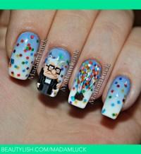 UP...movie inspired nail art   Amanda S.'s (madamluck ...