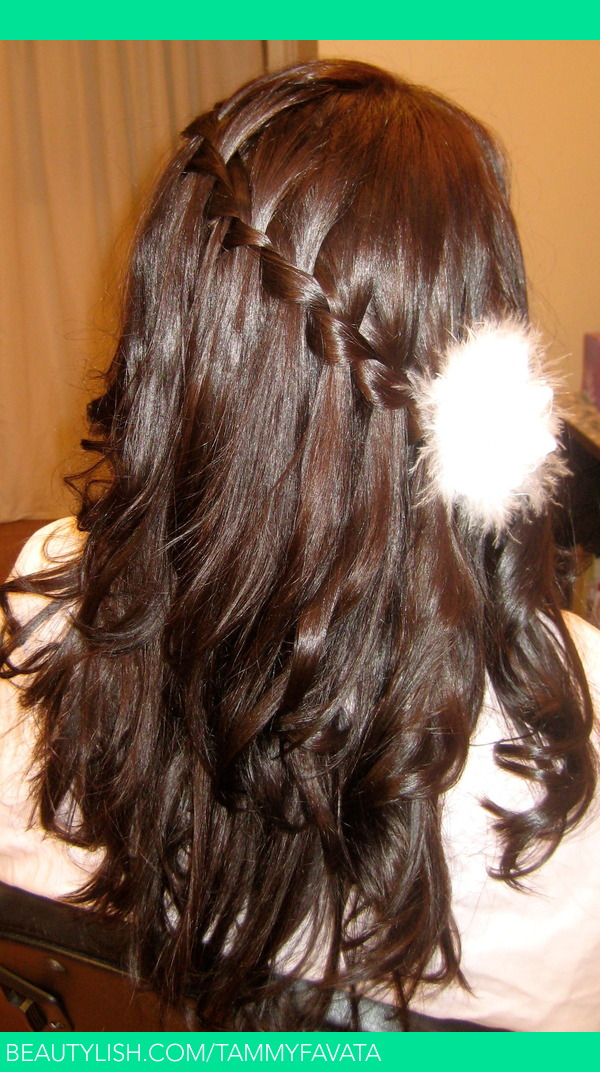 Ambient Lighting Edit - Volume 4 Waterfall French Braid With Sultra Curls Created With A