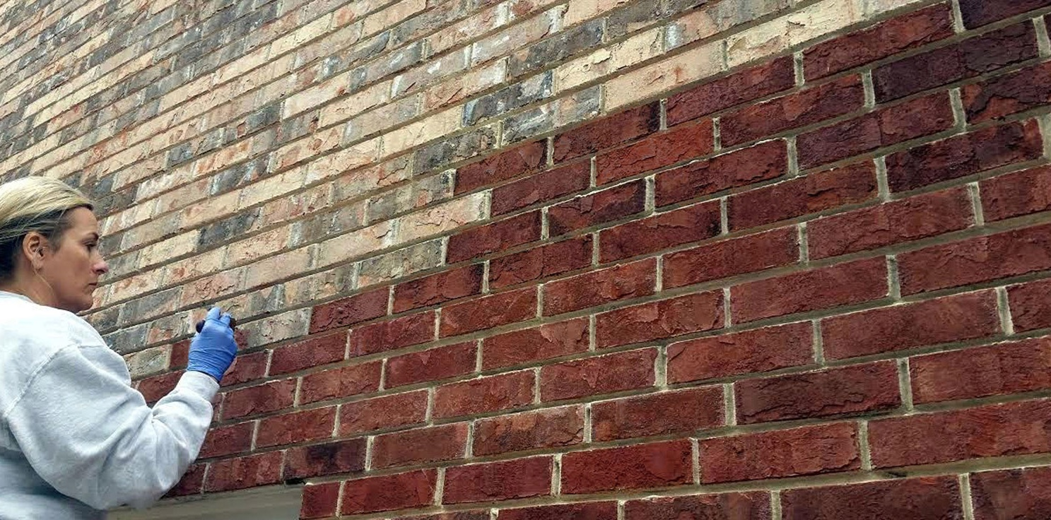 Fake Brick Wall Bunnings Brick Stain From Dyebrick The Color Stain For Brick Dyebrick