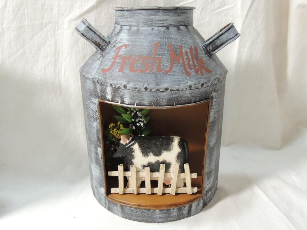 Decorative Milk Urn Lot 4 Farm Cow Milk Jug Decorative Wall Hanging