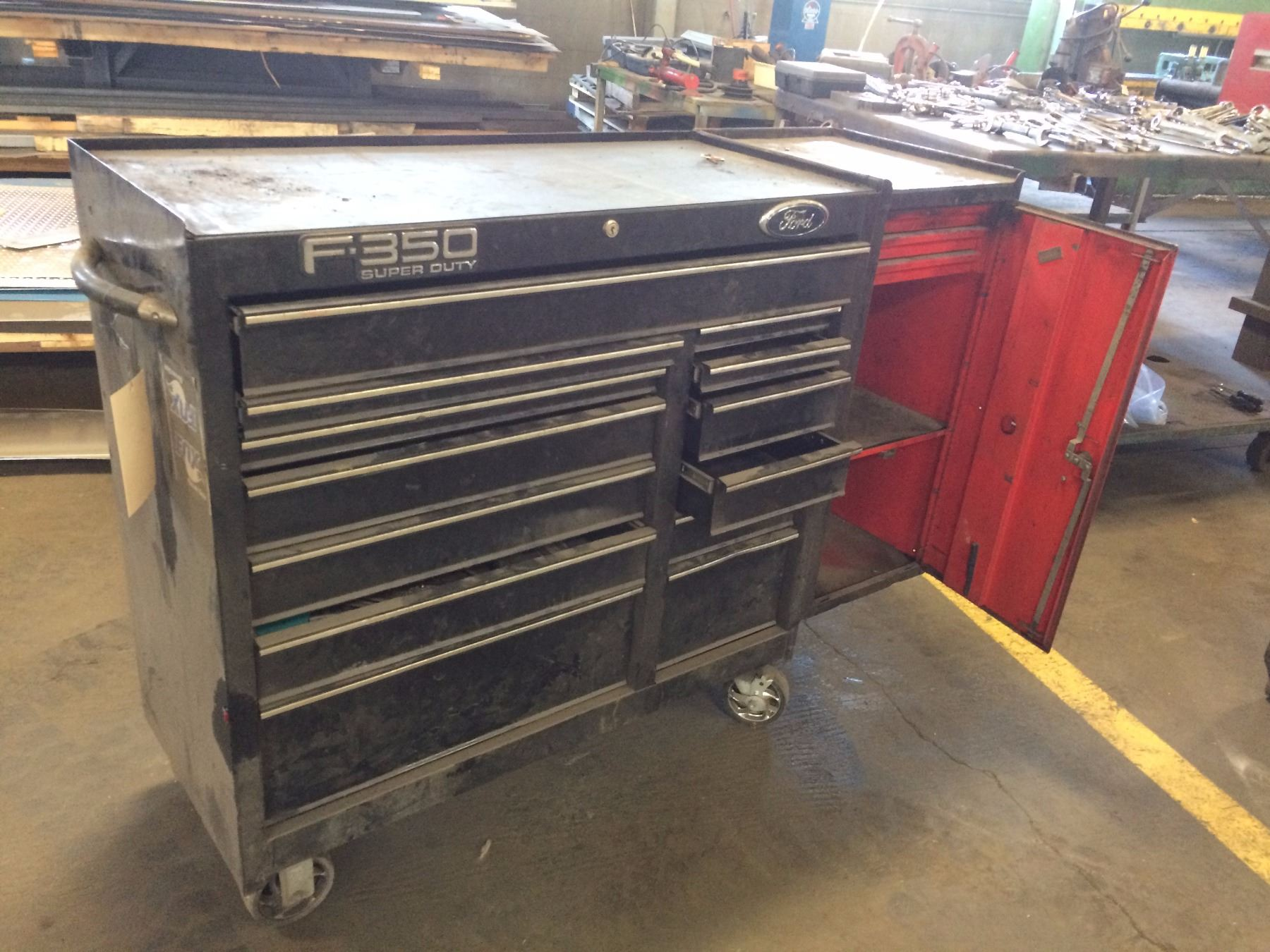 Shop Tool Boxes Shop Roll Around Tool Box With Side Cabinet 5 Drawer