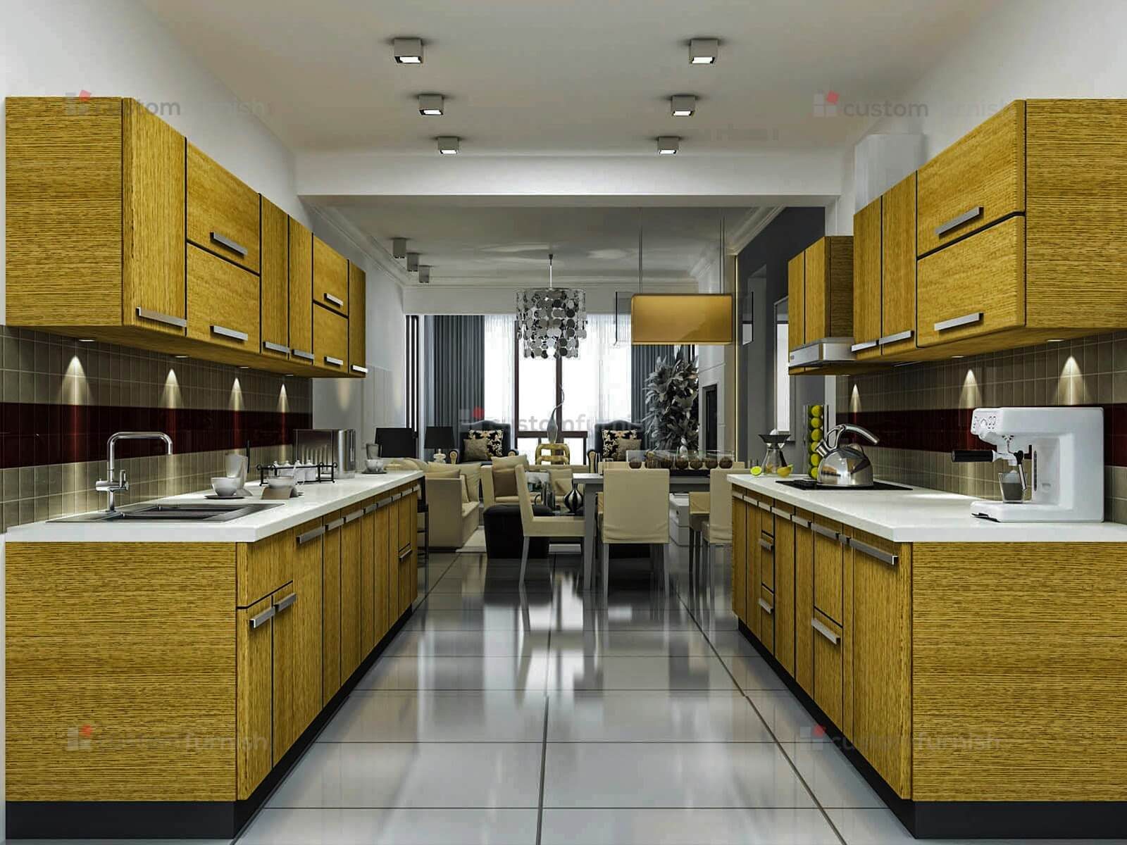 Triangle In Kitchen Design Parallel Kitchen Dyhome