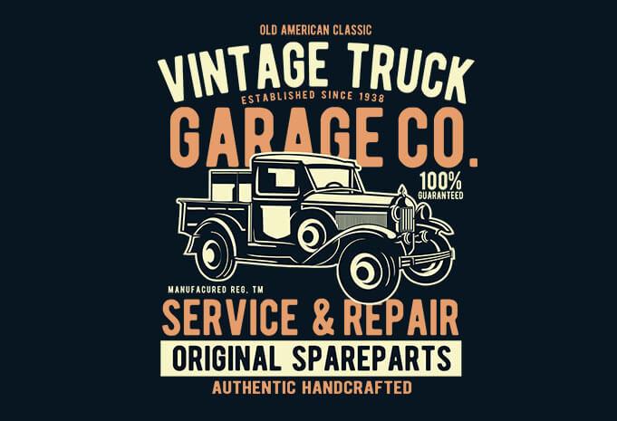 Vintage Truck Vector T Shirt Design Best T Shirt Design