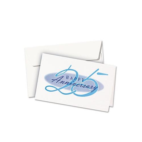 Avery Textured Half, Inkjet, 5 1/2 x 8 1/2, Wht, 30/Bx w/Envelopes