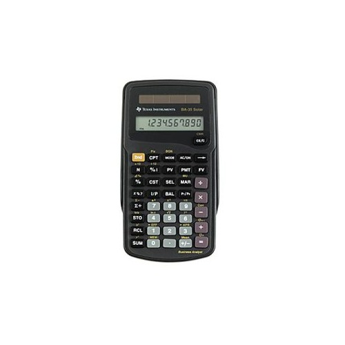 Texas instruments BA35SOLAR Solar Powered Financial Calculator