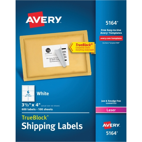 Avery Easy Peel Address Label, Permanent Adhesive - 333quot; Width
