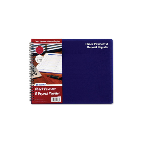 Tops Products Adams Check Payment  Deposit Register, 96 Sheet(s