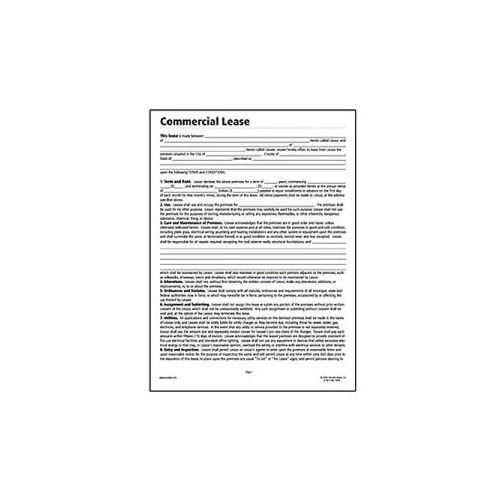 Socrates Commercial Lease Real Estate Forms, 11 x 8-1/2, 4 Forms per