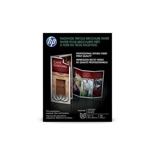 HP Small Format Tri-Fold Brochure Paper White 85\