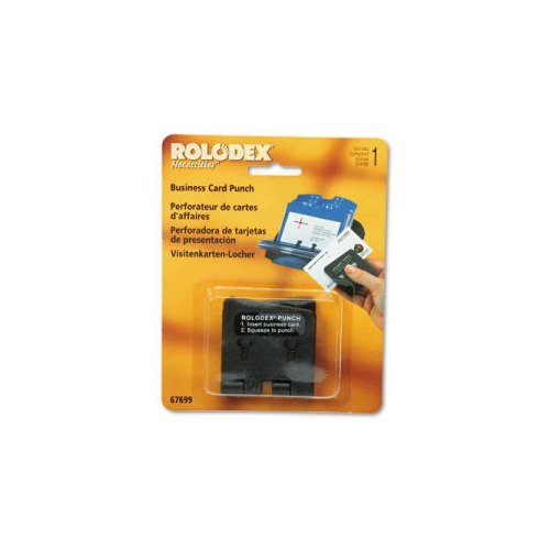 Rolodex One-Sheet Business Card 2-Hole Punch for 2-1/4 x 4 Card
