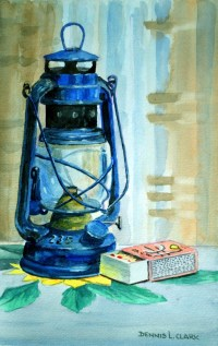 How to Paint a Hurricane Lamp Still Life in Watercolor ...