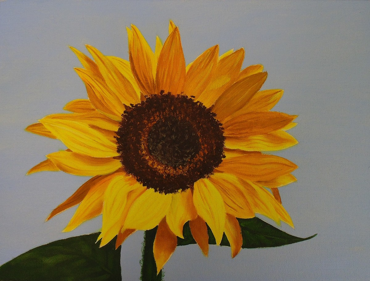 How To Painting Art How To Paint Sunflowers In Oil Online Art Lessons