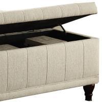 Home Origin Lift-Up Fabric Storage Bench | HSN