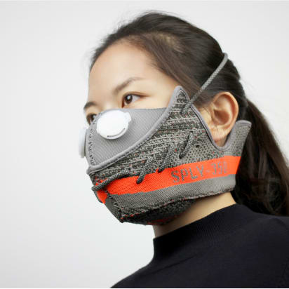 Chinese designer turns sneakers into pollution masks - CNN Style