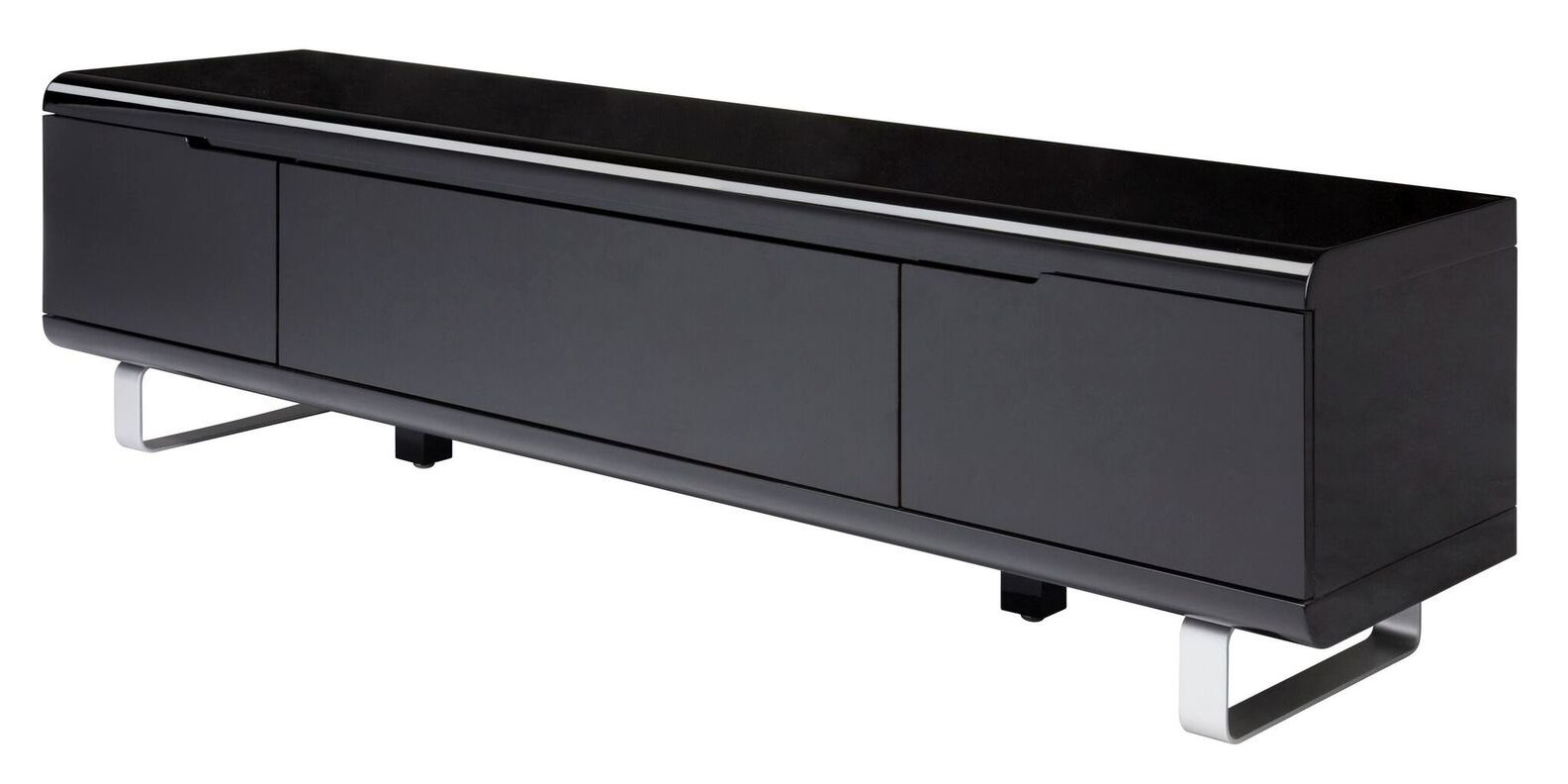 Hifi Kommode Tv Lowboard Spacy Hochglanz Schwarz Kommode Sideboard