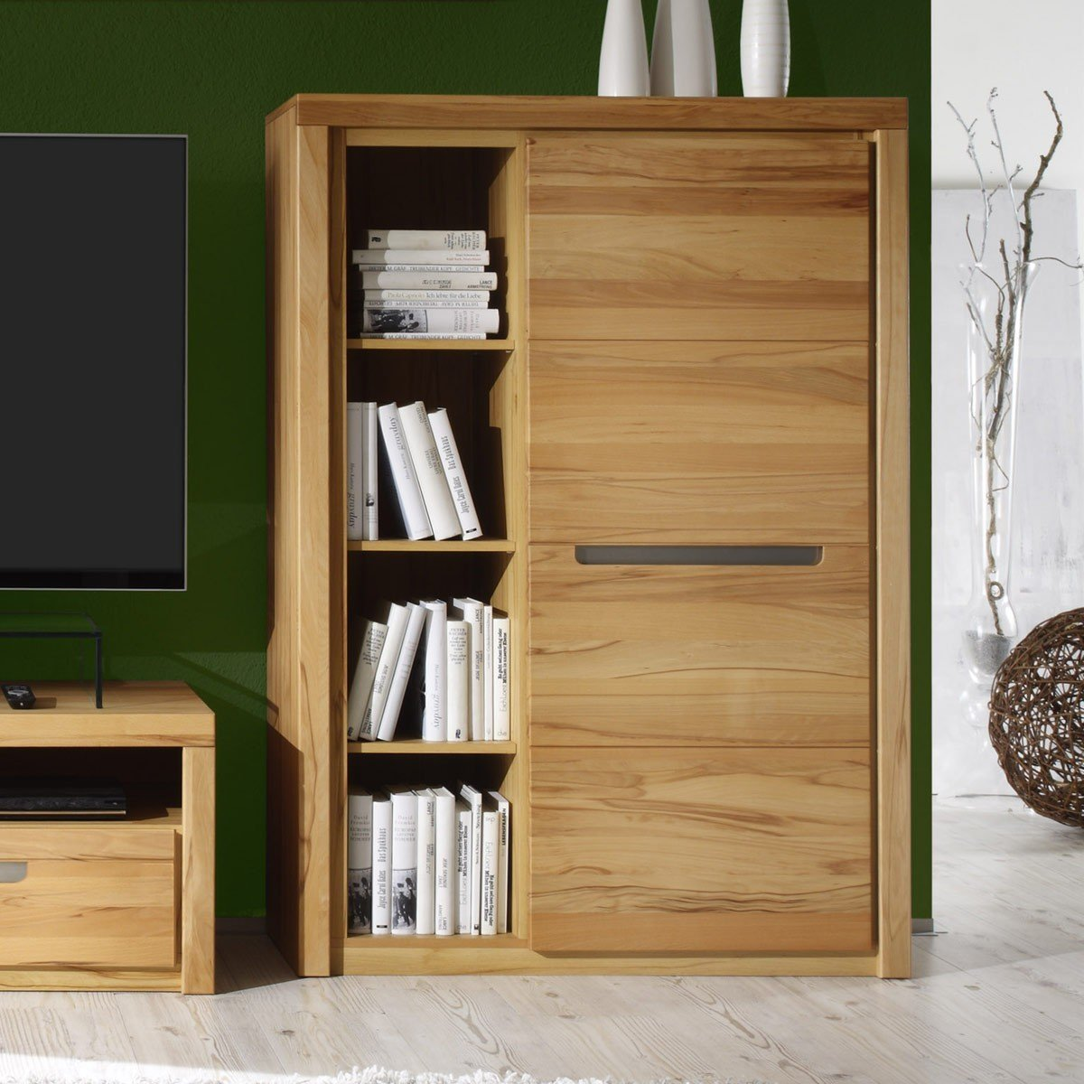 Lattenroste Bei Ebay Kommode Zino Kernbuche Massiv Highboard Sideboard