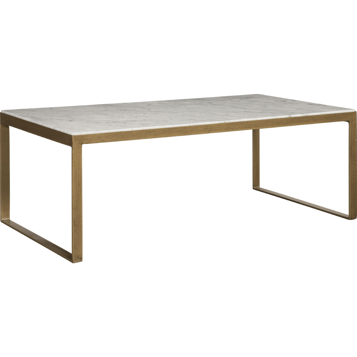 Beautiful Coffee Table Evert Coffee Table In White Italian Marble On Antique Brass Frame By Sunpan