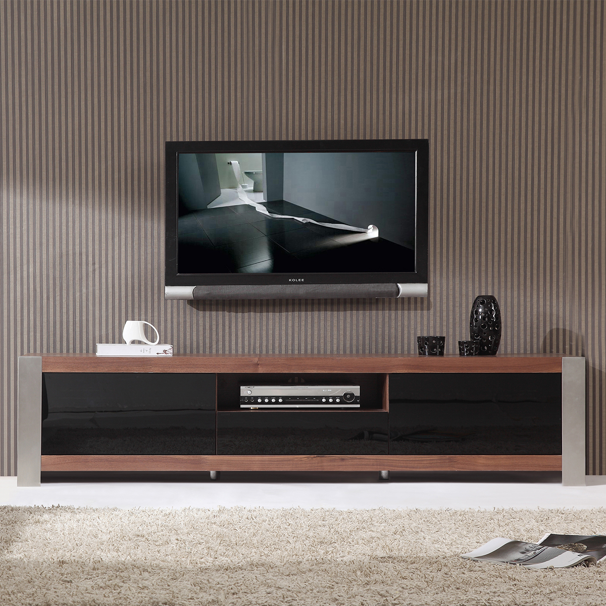 Contemporary Tv Stands B Modern Bm 140 Brn Coordinator 79 Quot Contemporary Tv Stand