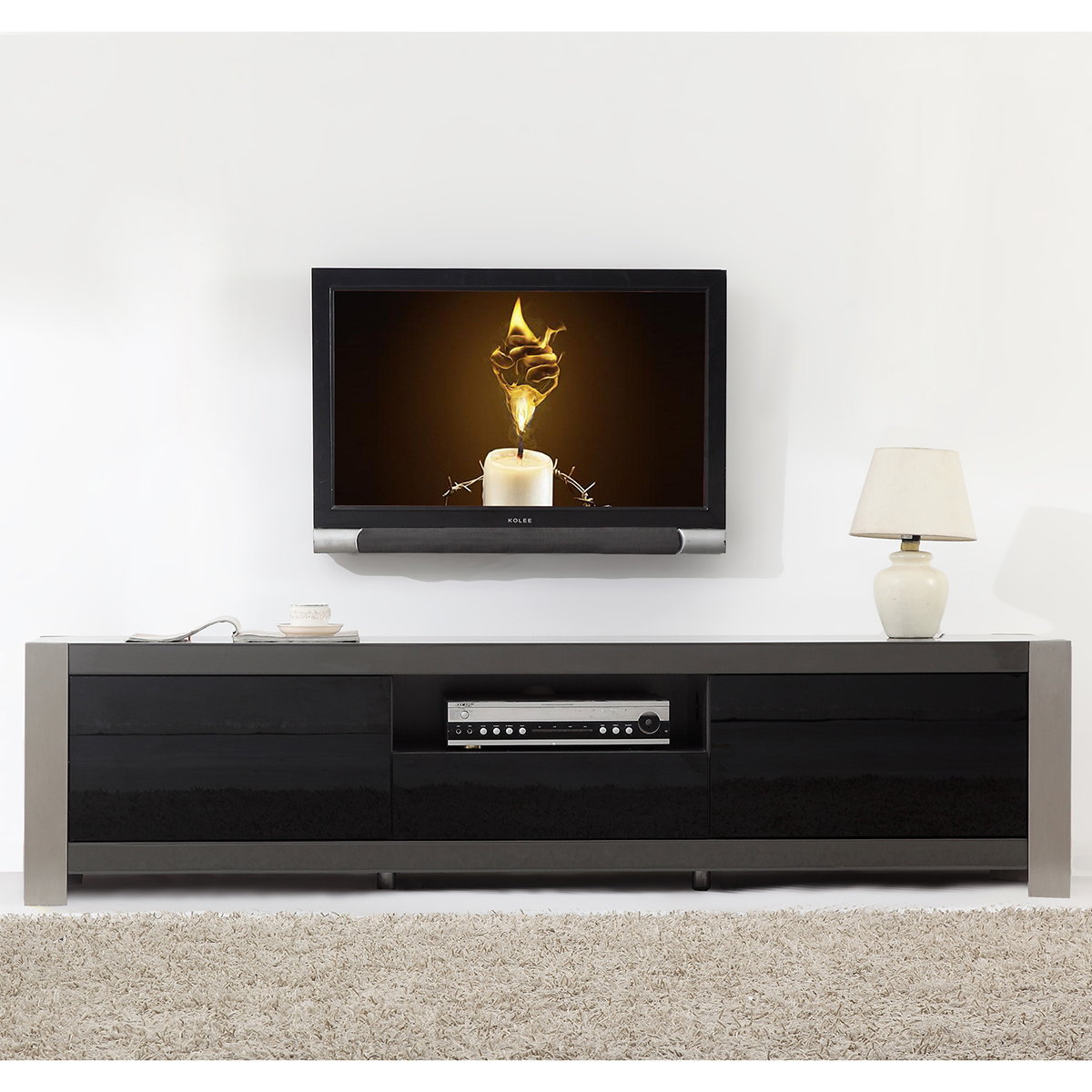 Contemporary Tv Stands B Modern Bm 140 Gry Coordinator 79 Quot Contemporary Tv Stand