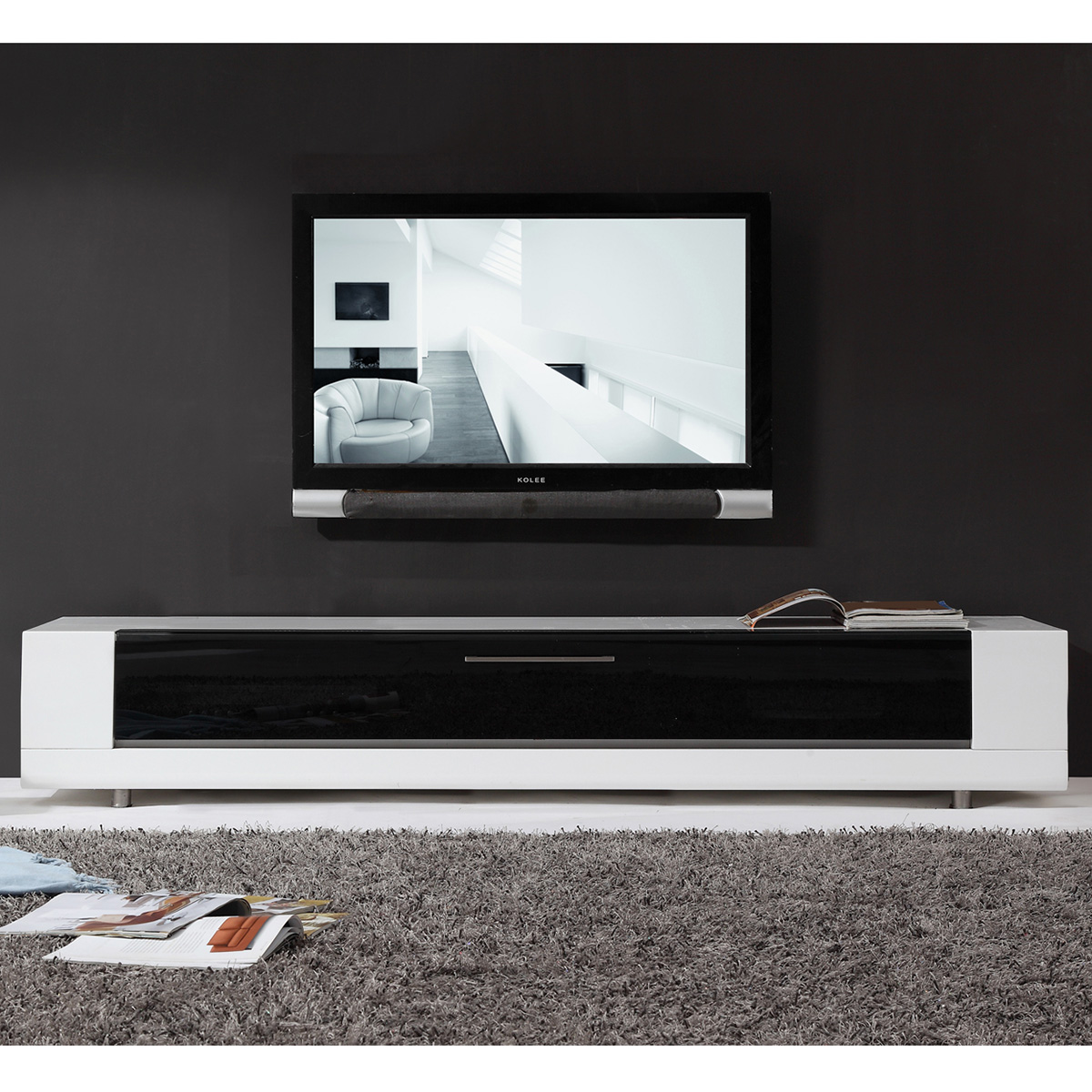 Contemporary Tv Stands B Modern Bm 632 Wht Editor Remix 79 Quot Contemporary Tv Stand