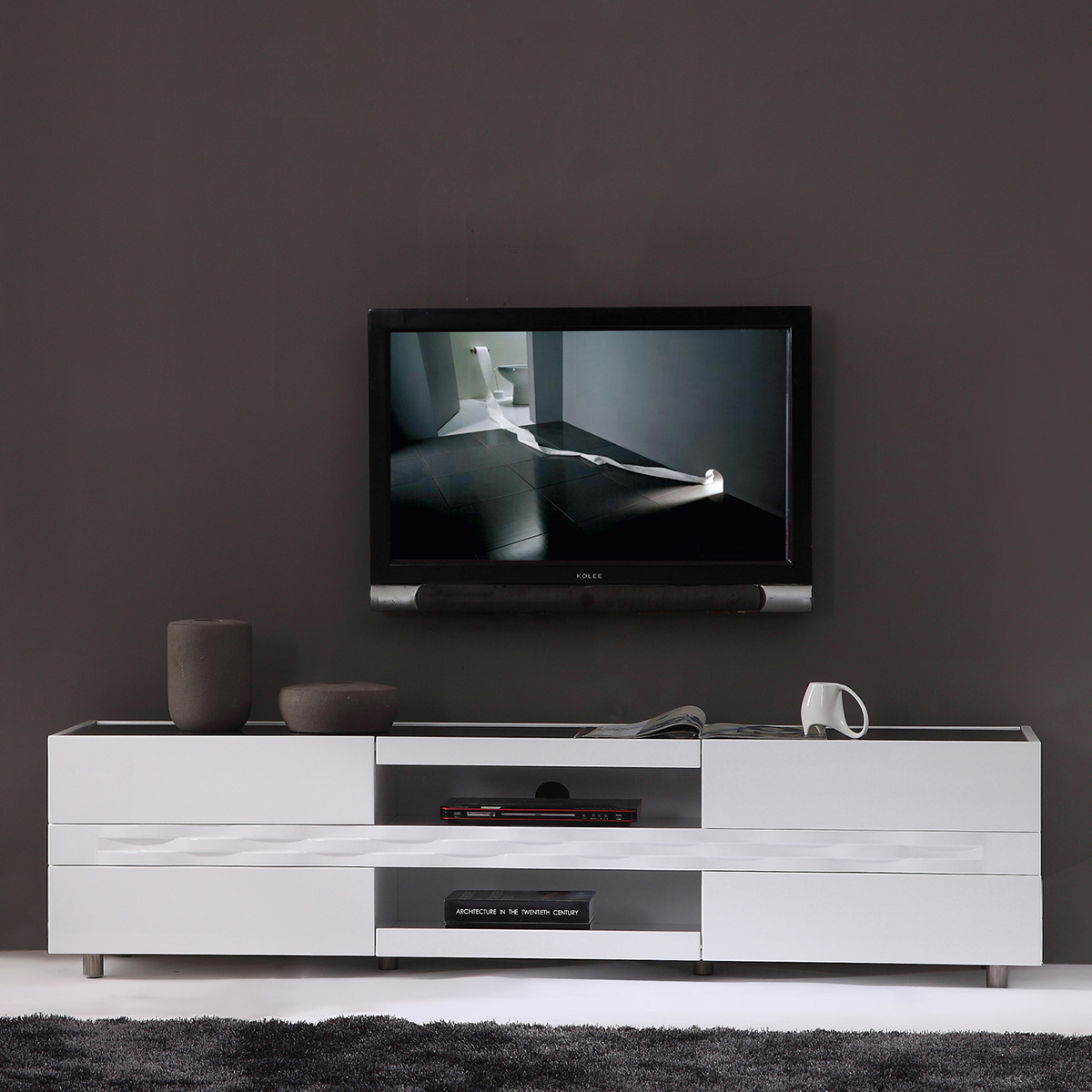 Modern Tv Base B Modern Bm 803 Wht Publisher 71 Quot Contemporary Tv Stand In