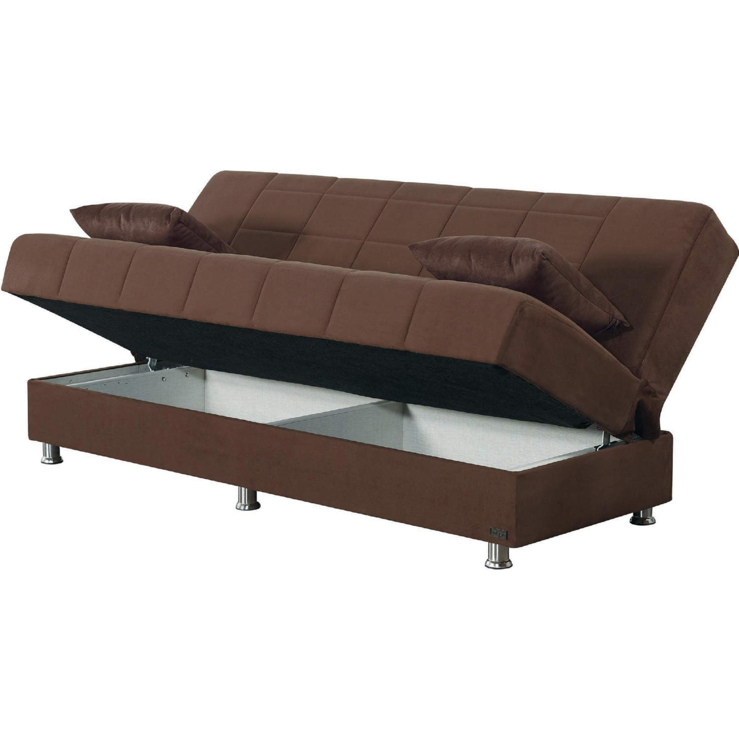 Empire Sb Hamilton Hamilton Convertible Sleeper Sofa In Brown Microfiber