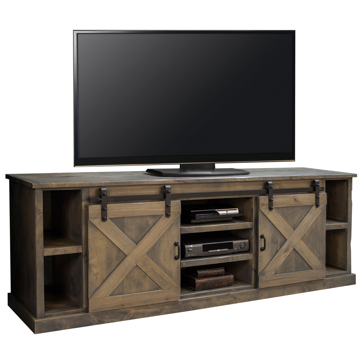 Farmhouse Corner Tv Stand Plans Legends Furniture Fh1425 Bnw Farmhouse 85 Quot Tv Stand