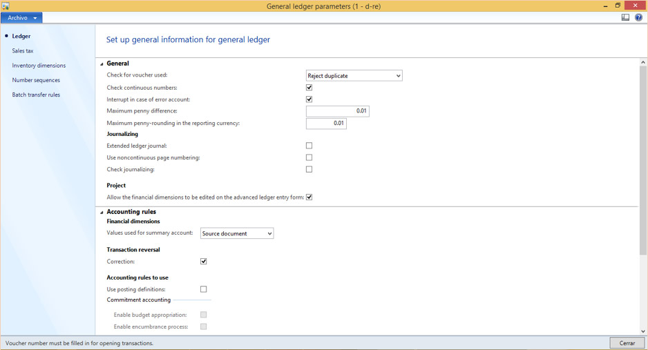 Configuring General Ledger - Dynamics Resources