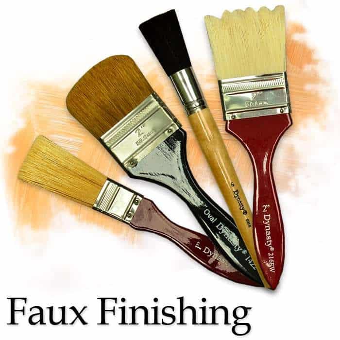 Dynasty brush faux finishing for Faux painting brushes